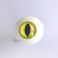 CAT20C15 SD Hujoo Arcylic Full Round Cat Eye 20mm Yellow