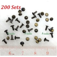 DIY Material Crafts Mini Mushroom Rivet 3mm Copper (200pcs) NDA045SXCPR