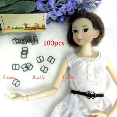NDA050SXDGY Doll Dress DIY 8x8mm Metal Buckle Dark Grey 100pcs