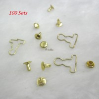 NDA116SXGLD DIY 4mm Mini Overall Suspender Buckle GOLD (100 Set)