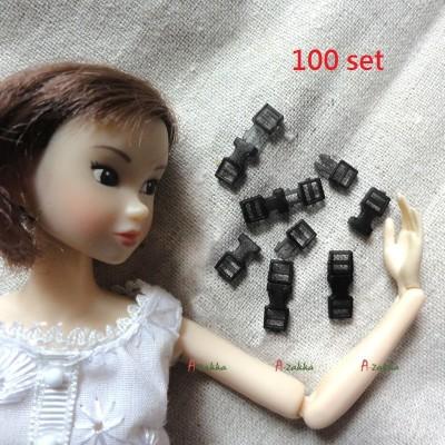 NDA117SXSBK Mini Backpack Buckle 16mm Solid Black (100 sets)