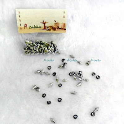 Doll Dress DIY Crafts Mini Cone Rivet 5mm Silver NDA121SLR