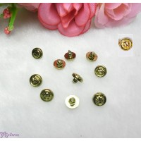 NDA215CPR Marine Logo Round Button 5mm COPPER (10pcs)