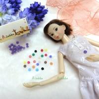 NDB001PUE Doll Custom Dress Tiny Button Round 4mm S Purple