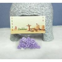 Doll Dress DIY Crafts Tiny Button Heart 6.5mm Purple NDB004PUEL