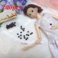 DIY Craft High Quality Button Round 4mm Pearl Black 200pcs NDB009SXBLK