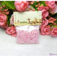 Doll Clothes DIY Crafts 10mm Mini Horn Button Pink (100pcs) NDB028SX-PNK