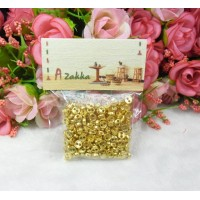 DIY Materials Round 4mm Metal Mini Button Gold 200pcs NDB031SXGLD