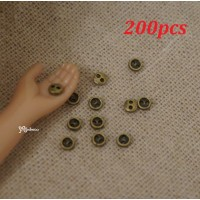 DIY Materials Round 3mm Metal Mini Button Copper 200pcs NDB033SXCPR