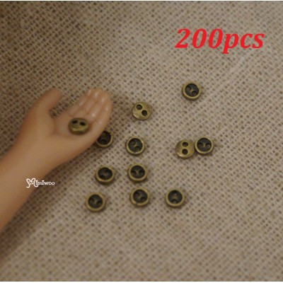 DIY Materials Round 3mm Metal Mini Button Copper 200pcs NDB033SXCPR