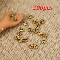 DIY Materials Round 3mm Metal Mini Button GOLD 200pcs NDB033SXGLD