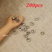 DIY Materials Round 3mm Metal Mini Button SILVER 200pcs NDB033SXSLR
