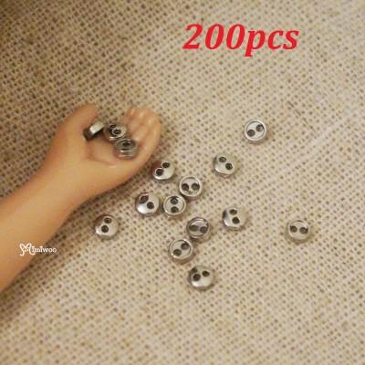 DIY Materials Round 3mm Metal Mini Button SILVER 200pcs NDB033SXSLR