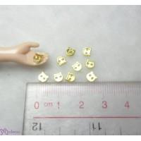 DIY Materials 4mm Metal Mini Button Kitten Cat Gold (10pcs) NDB036GLD