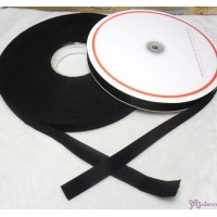 DIY Material Thin Velcro Tape Set 2cm x 50 meter BLACK VEB-2