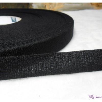 DIY Material Thin Velcro Tape Set 2cm x 50 meter BLACK VEB-2