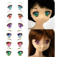 ED3-Q Obitsu Super Dollfie SD DD 1/3 Doll Eye Decal Sticker Q