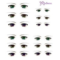 ED6-02 Obitsu 27cm Body 1/6 Dollfie Doll Eye Decal Sticker 02