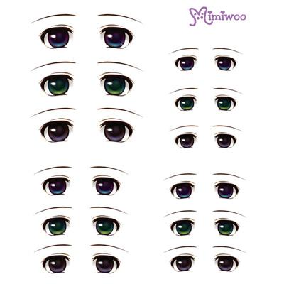 ED6-03 1/6 Bjd Doll Eye Decal Sticker 03