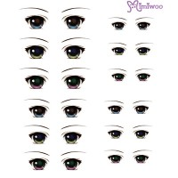 ED6-04 Obitsu 27cm Body 1/6 Dollfie Doll Eye Decal Sticker 04