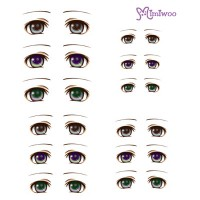 ED6-05 Obitsu 27cm Body 1/6 Dollfie Doll Eye Decal Sticker 05