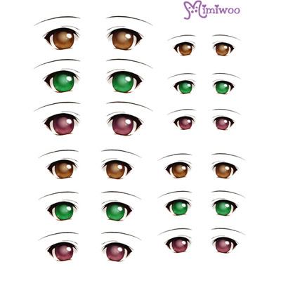 ED6-06 1/6 Bjd Doll Eye Decal Sticker 06