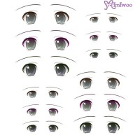 ED6-08 Obitsu 27cm Body 1/6 Dollfie Doll Eye Decal Sticker 08