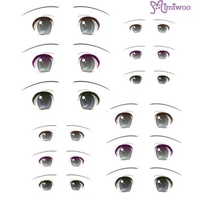 ED6-08 1/6 Bjd Doll Eye Decal Sticker 08