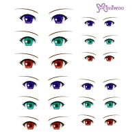 ED6-09 Obitsu 27cm Body 1/6 Dollfie Doll Eye Decal Sticker 09