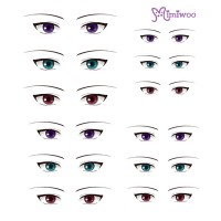ED6-12 Obitsu 27cm Body 1/6 Dollfie Doll Eye Decal Sticker 12