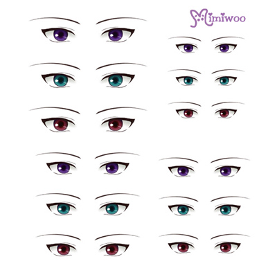 ED6-12 1/6 Bjd Doll Eye Decal Sticker 12