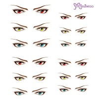 ED6-17 Obitsu 27cm Body 1/6 Dollfie Doll Eye Decal Sticker 17
