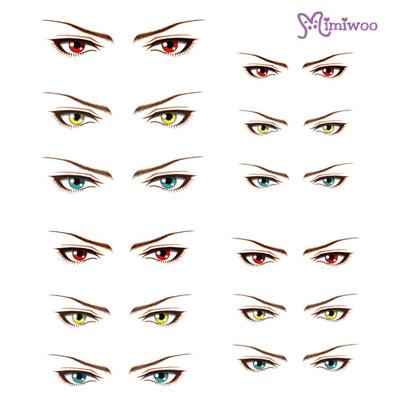 ED6-17 1/6 Bjd Doll Eye Decal Sticker 17