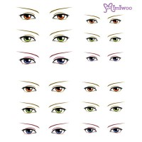 ED6-20 Obitsu 27cm Body 1/6 Dollfie Doll Eye Decal Sticker 20