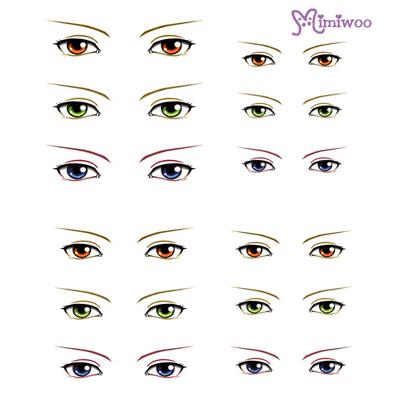 ED6-20 1/6 Bjd Doll Eye Decal Sticker 20