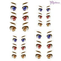 ED6-28 Obitsu 27cm Body 1/6 Dollfie Doll Eye Decal Sticker 28
