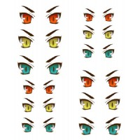 ED6-30 Obitsu 27cm Body 1/6 Dollfie Doll Eye Decal Sticker 30