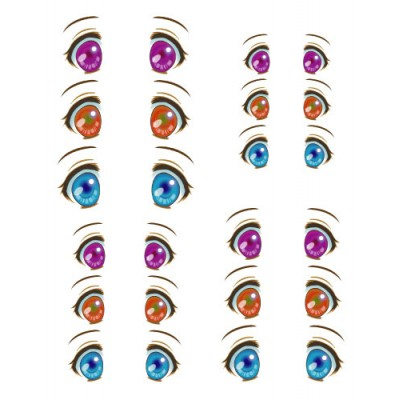 ED6-31 1/6 Bjd Doll Eye Decal Sticker 31