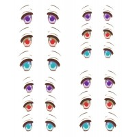 ED6-32 Obitsu 27cm Body 1/6 Dollfie Doll Eye Decal Sticker 32