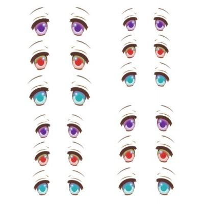 ED6-32 1/6 Bjd Doll Eye Decal Sticker 32