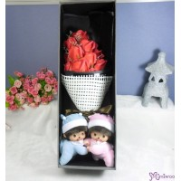 Bebichhichi Romper Lying + Soap Flower Rose Gift Box Set