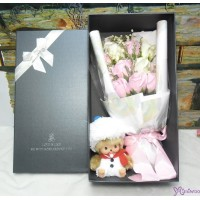 Bebichhichi Snowman + Soap Flower Rose Gift Box Set S005