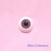 GF24R11 Super Dollfie SD Pullip Luts Acrylic Eye 24mm - Magenta