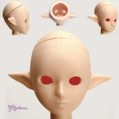 HD-PB-2703W Obitsu 1/6 Dollfie Body Eye Hole Pixy Ear Head White