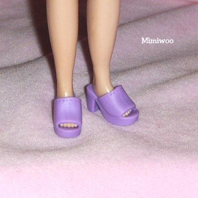 HSB002 Blythe Doll Shoe -High Heel Open End Shoe 176 Purple