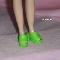HSB005 Blythe Doll Shoe -High Heel Open End Shoe 176 Green