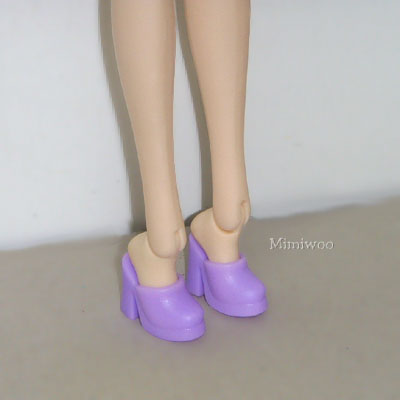 HSB010 Pullip Momoko Barbie Doll Shoe-High Heel Close End Purple