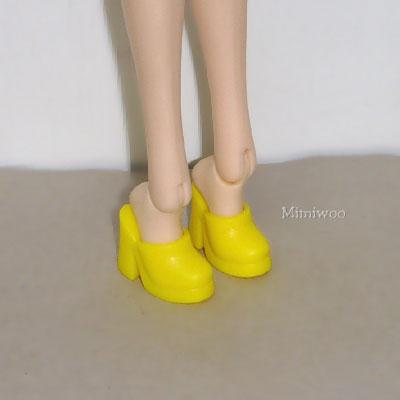 HSB012 1/6 BJD Doll Shoes High Heel Close End Yellow