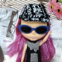 HSM011BLE02 Blythe Doll Mimi Plastic Blue Glasses Black Lens
