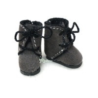 SBB008GRY Hujoo Baby Obitsu 11cm Body Shoes Flocked Boots Grey